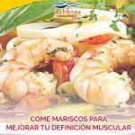 Come mariscos para mejorar tu definición muscular